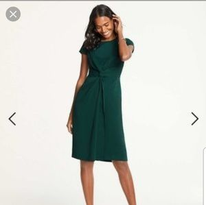 NWT Ann Taylor Knotted Green Sheath Dress